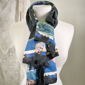 JOHNNY WAS | Leopard, Bird, Floral Tropical SCARF